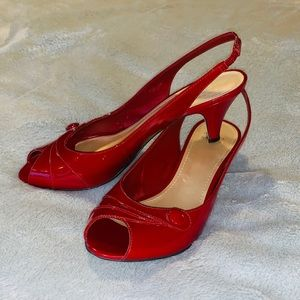 Alex Marie Red Patent Leather Heels